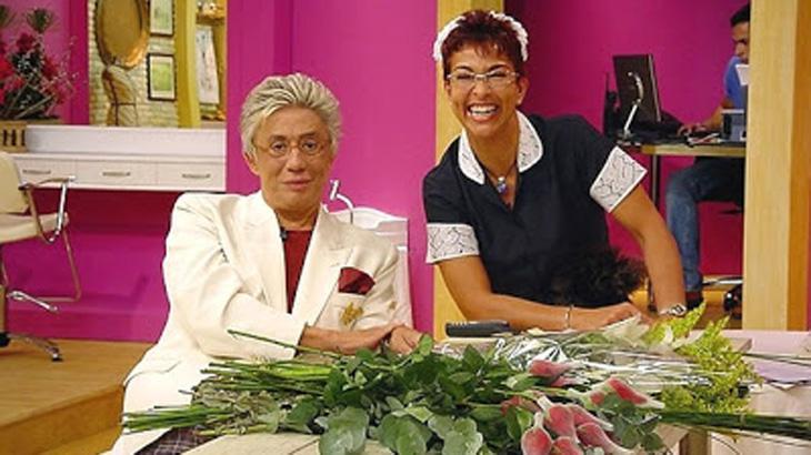 Vida Vlatt como Ofrásia no programa A Casa é Sua que ela comandava com Clodovil Hernandes na RedeTV!