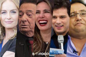 Angélica, Raul Gil, Luciana Gimenez, Celso Portiolli e Geraldo Luís enfrentam situação complicada nas emissoras de TV (Foto montagem: TV Foco)