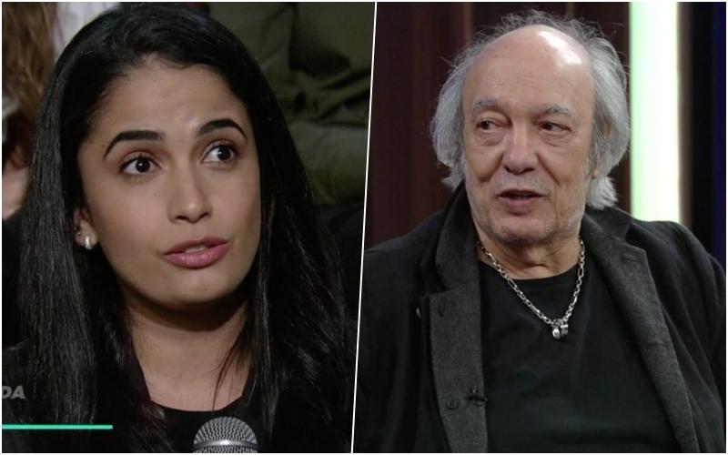 Erasmo Carlos roubou a cena no Conversa com Bial ao mostrar a namorada 49 anos mais jovem (Foto reprodução)