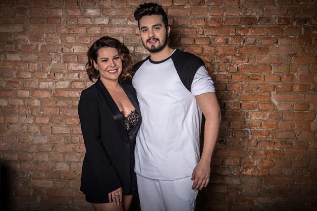 Fernanda Souza e Luan Santana no lançamento do Só Toca Top (Foto: Globo/Fábio Rocha)