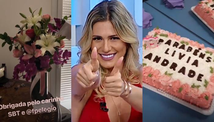 Lívia Andrade completa 35 anos e recebe surpresa no SBT