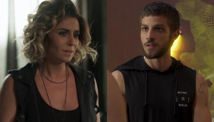 Luzia (Giovanna Antonelli) e Ícaro (Chay Suede) em Segundo Sol (Foto: Reprodução/Globo)