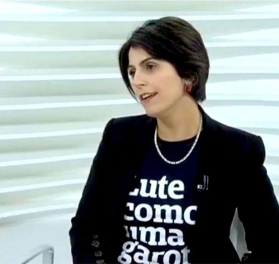 A deputada Manuela D'Ávila foi a entrevistada do Roda Viva, na TV Cultura (Foto: Divulgação)