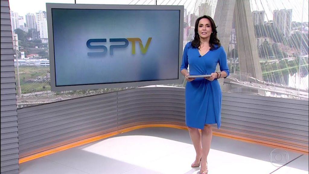 Izabella Camargo no SP1 (Foto: Reprodução)
