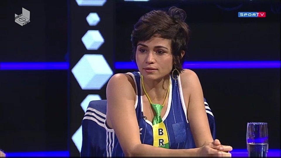 Nanda Costa no programa Zona Mista, do SporTV (Foto: Reprodução/SporTV)