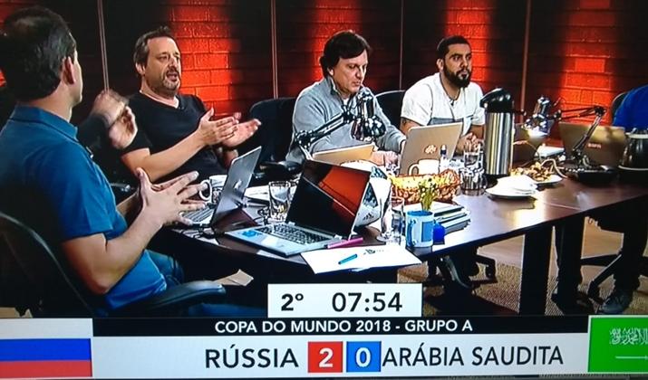 ESPN aposta em mesa redonda em tempo real. (Foto: Reprodução)