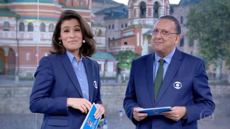 Renata Vasconcellos e Galvão Bueno no Jornal Nacional (Foto: Reprodução/Globo)