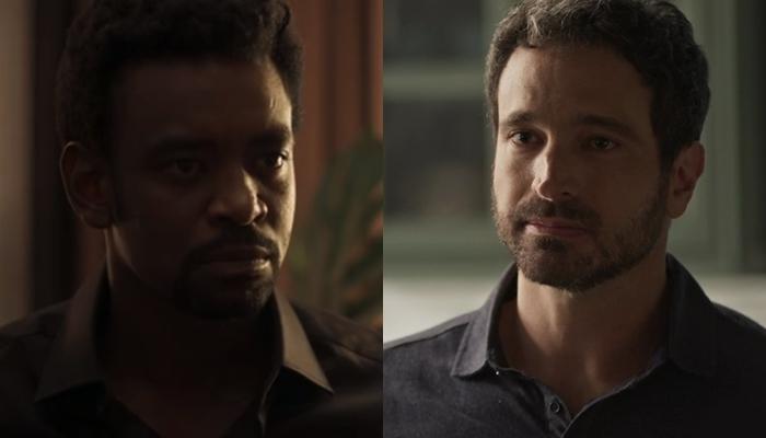 Roberval (Fabrício Boliveira) e Edgar (Caco Ciocler) Segundo Sol (Foto: Reprodução/Globo)