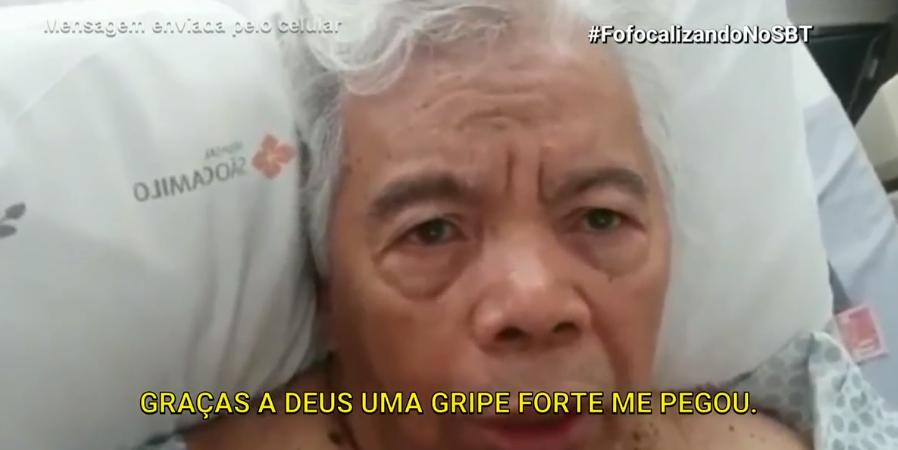 Direto do hospital, Roque dá detalhes do seu estado de saúde