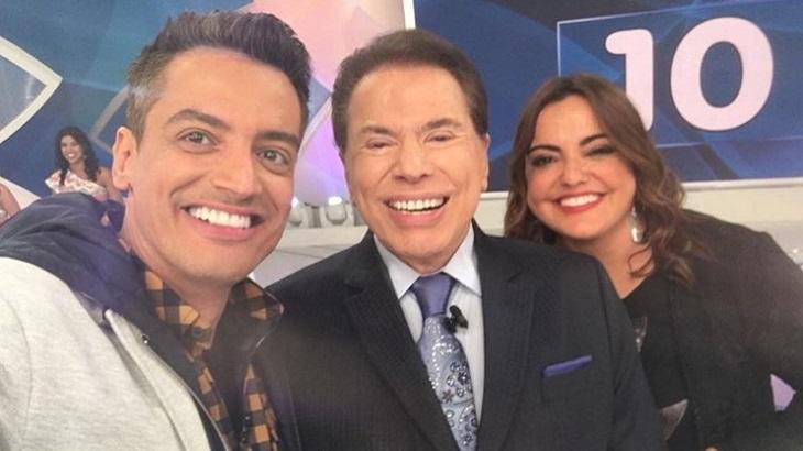 Leo Dias do SBT e Fabiola Reipert da Record (Foto: Reprodução)