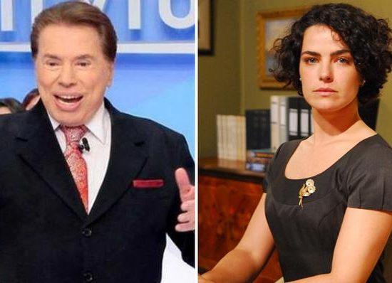 Silvio Santos e Ana Paula Arósio