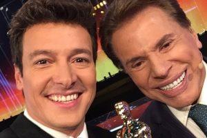 Rodrigo Faro e Silvio Santos (Foto: Reprodução)