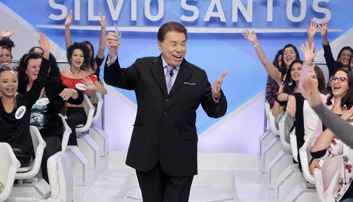 Silvio Santos em seu programa no SBT (Foto: Lourival Ribeiro/SBT)