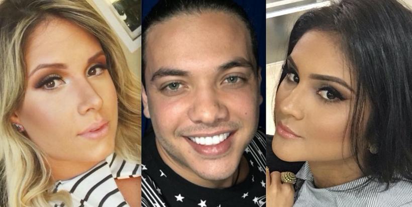 Thyane Dantas, Wesley Safadão e Mileide (Foto: Reprodução)