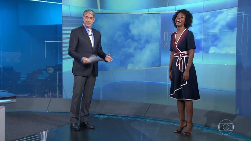 Maju e Bonner (Imagem: Reprodução/TV Globo)