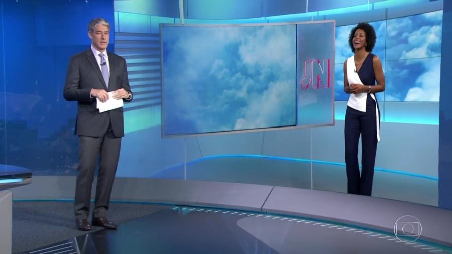 William Bonner e Maju Coutinho. (Foto: Reprodução/TV Globo)