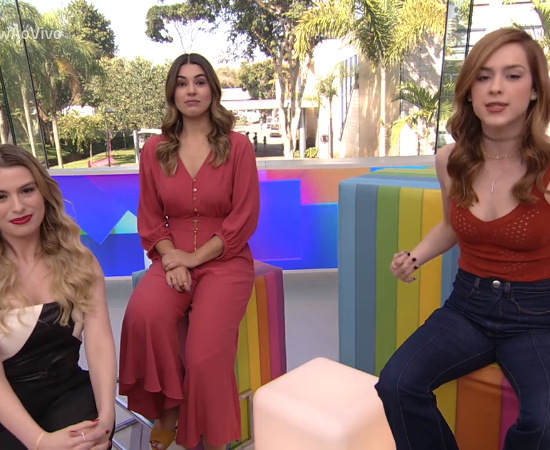 Fernanda Keulla,Vivian Amorim eSophia Abrahão no comando do Vídeo Show (Foto: Reprodução/Globo)