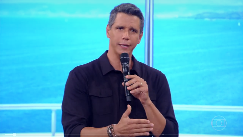 Márcio Garcia no comando do Tamanho Família (Foto: Reprodução/Globo)