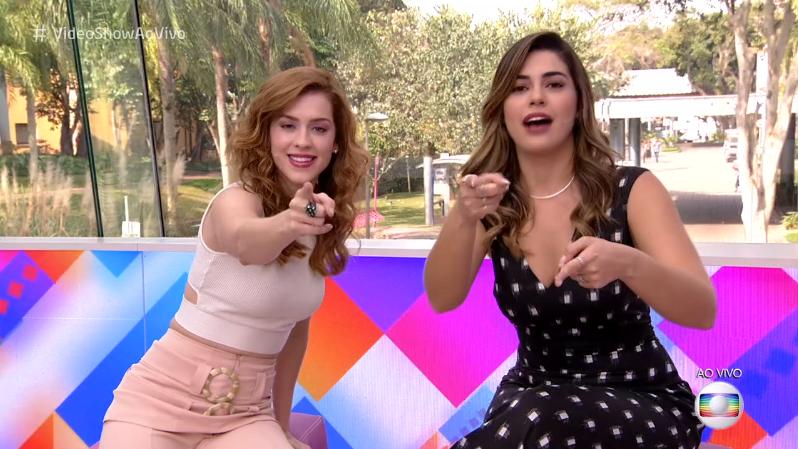 Sophia Abrahão e Vivian Amorim no comando do Vídeo Show (Foto: Reprodução/Globo)