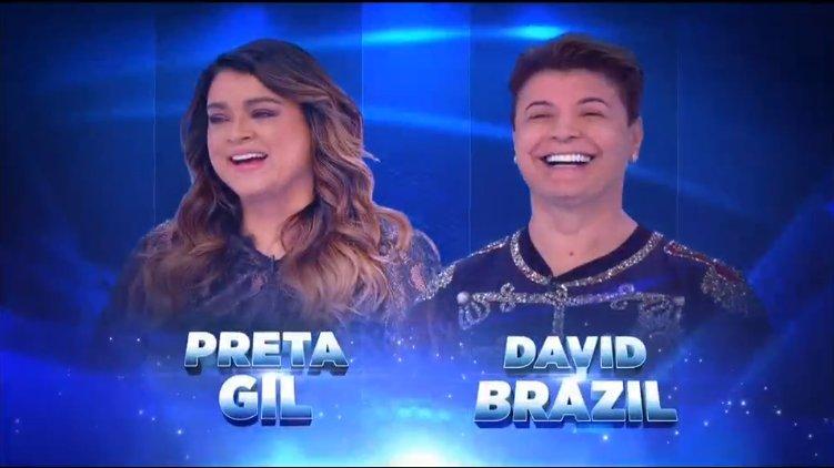 Preta Gil e David Brazil (Foto: Reprodução)