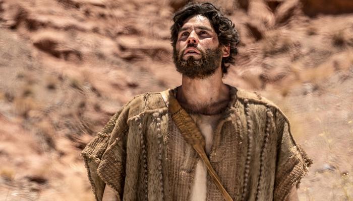Dudu Azevedo em gravação da novela Jesus (Foto: Edu Moraes/Record)