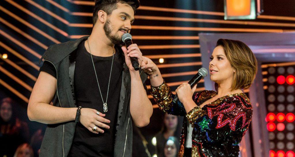 Luan Santana e Fernanda Souza no comando do SóTocaTop (Foto: Divulgação/Globo)
