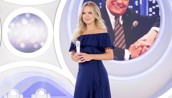 Eliana em seu programa no SBT (Foto: Gabriel Cardoso/SBT)