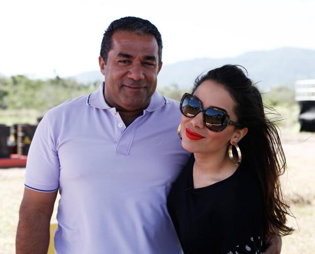 Anitta e Mauro Machado, seu pai (Foto: Reprodução)
