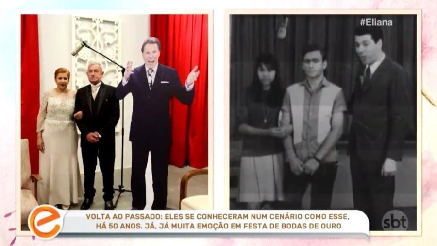 SBT exibiu Silvio Santos de papelão (Foto: Reprodução)