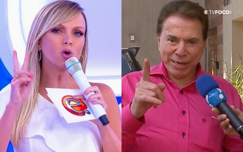 Eliana e Silvio Santos (Foto: Reprodução)