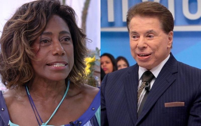 Gloria Maria e Silvio Santos (Foto: Divulgação/Reprodução)