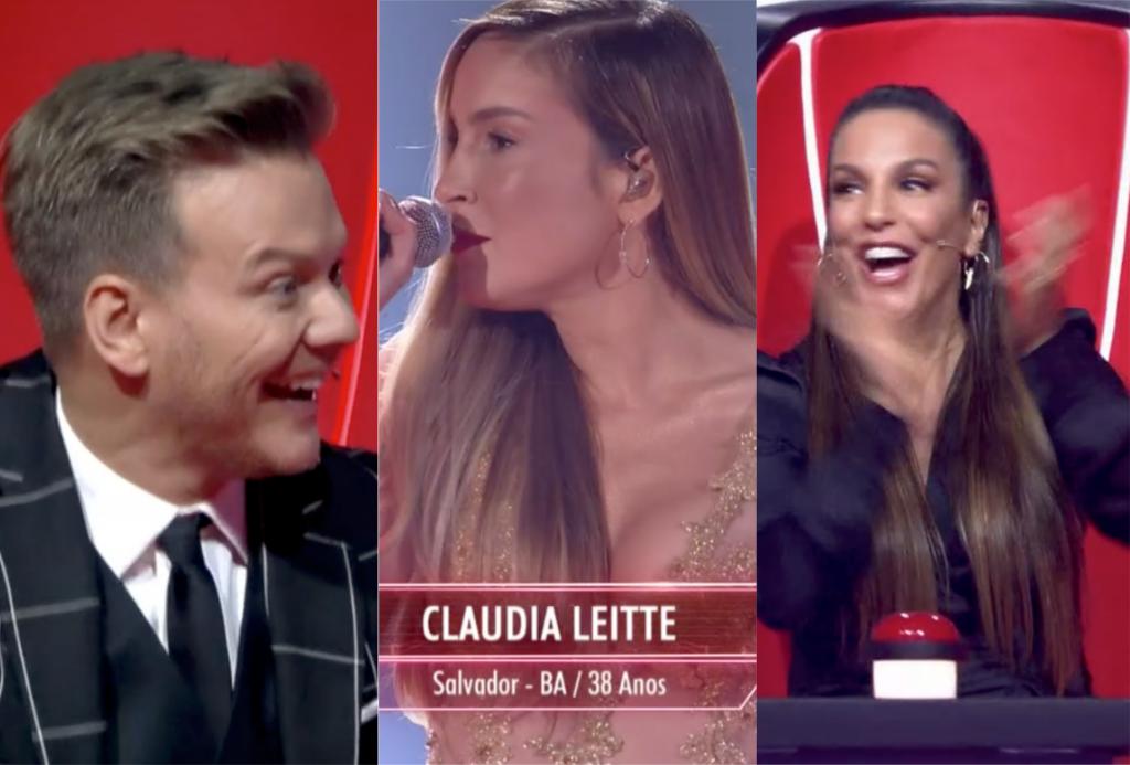 Claudia Leitte apareceu de surpresa como candidata no The Voice Brasil da Globo