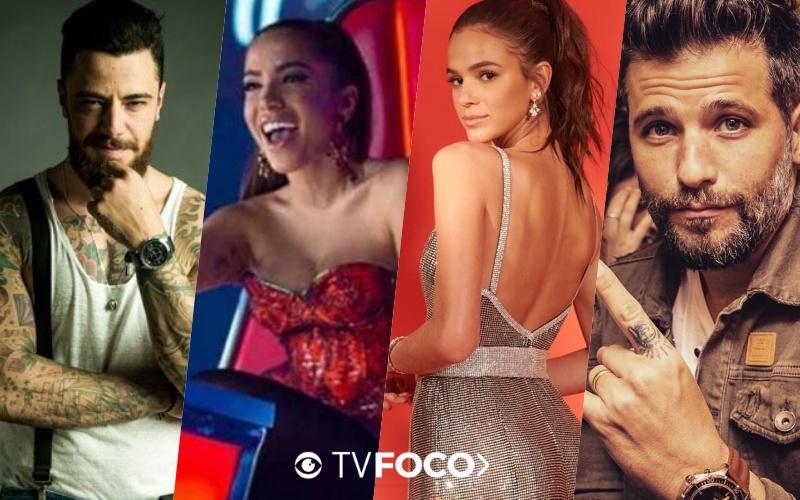 Nomes como os de Bruno Gagliasso, Anitta, Bruna Marquezine e Felipe Titto encabeçam lista de jovens mais ricos do Brasil (Foto montagem: TV Foco)