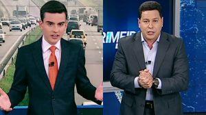 Dudu Camargo e Marcão do Povo comandam o Primeiro Impacto. (Foto: Reprodução/Montagem/TV Foco)
