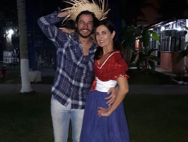 Fátima Bernardes e o namorado Túlio Gadêlha (Foto: Reprodução/Instagram)