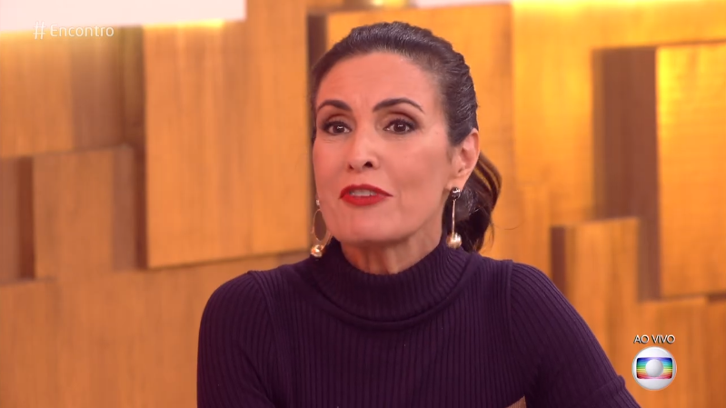 A apresentadora Fátima Bernardes no comando do Encontro (Foto: Reprodução/Globo)