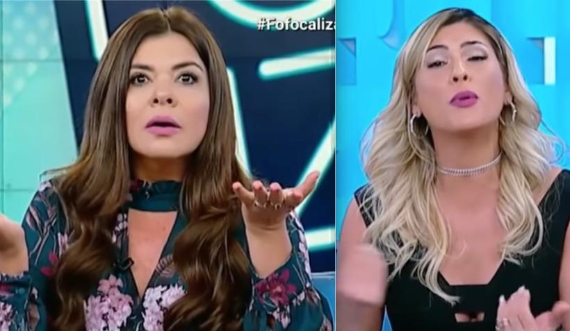 Lívia Andrade e Mara Maravilha se estranham no Fofocalizando (Foto: Reprodução)