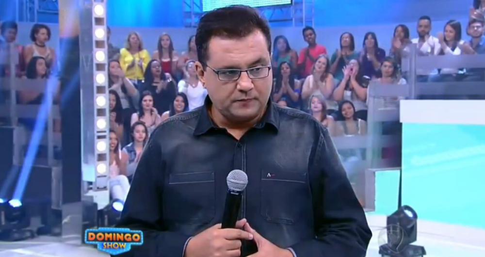 Geraldo Luís no Domingo Show (Foto: Reprodução)