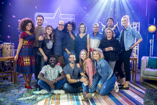 Elenco da segunda temporada do PopStar reunido nos Estúdios Globo (Foto: Globo/Sergio Zalis)