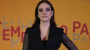 Juliana Paiva no lançamento de O Tempo Não Para (Foto: Isabella Pinheiro/Globo)