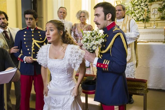 Lídia(Bruna Griphao) e Otávio(Pedro Henrique Müller) em cena de Orgulho e Paixão (Foto:Globo/Cesar Alves)