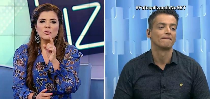 Mara Maravilha e Leo Dias no Fofocalizando (Foto: Reprodução)