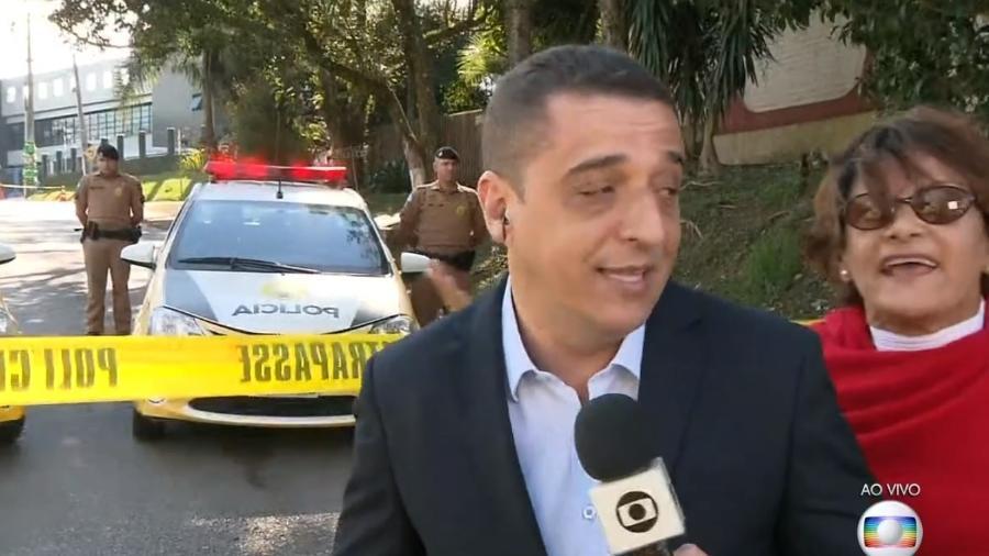 Mulher invade link da Globo Imagem: Reprodução/Globo