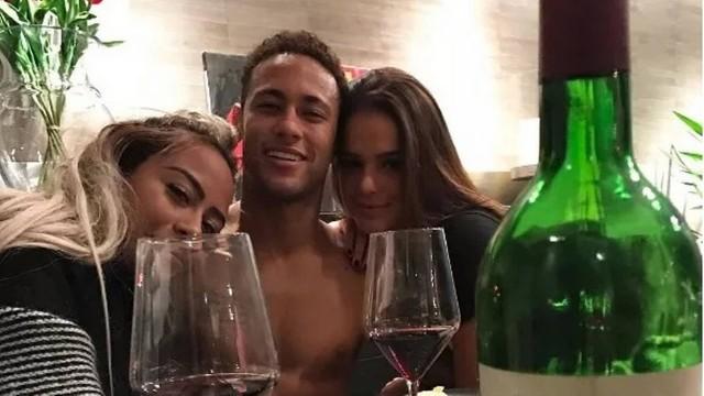 Rafaella, Neymar e Bruna Marquezine (Foto: Reprodução)