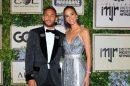 Neymar e Bruna Marquezine durante o evento (Foto: Reprodução)