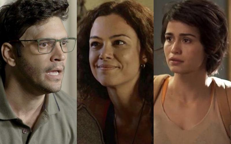 Ionan, Selma e Maura formam triângulo amoroso em Segundo Sol (Foto: Montagem)