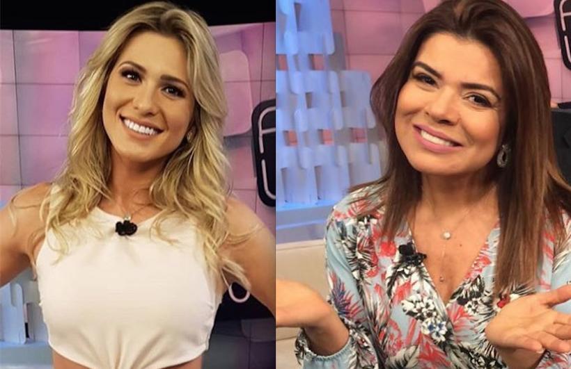 as contratadas de Silvio Santos, as apresentadoras do Fofocalizando do SBT, Lívia Andrade e Mara Maravilha (Foto: Reprodução)