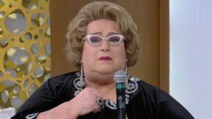 Mamma Bruschetta durante sua participação no SuperPop. (Foto: Reprodução/RedeTV)