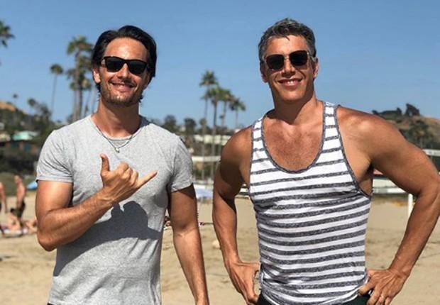Rodrigo Santoro e Márcio Garcia (Foto: Reprodução)