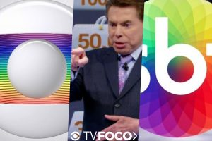 Silvio Santos peitou a Globo em diversos momentos ao longo da história do SBT (Foto montagem: TV Foco)